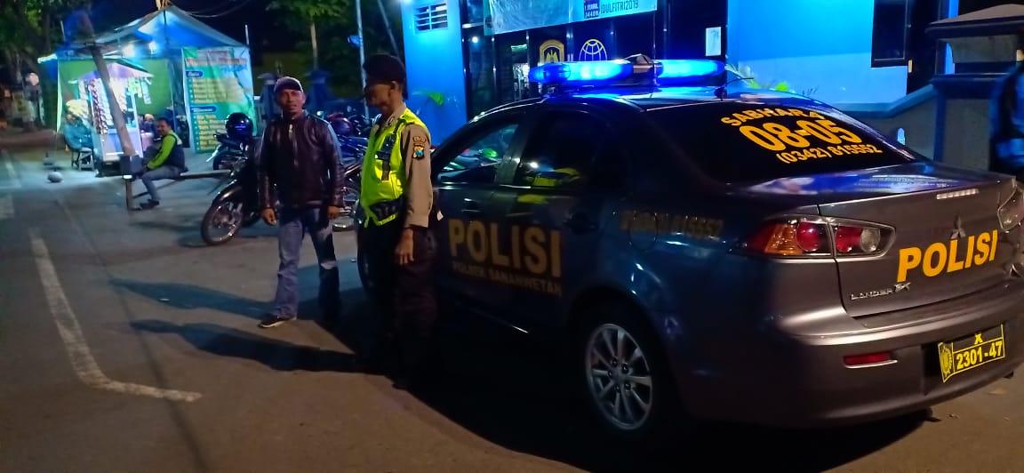Polsek Sananwetan Giatkan patroli baik pada siang maupun malam hari